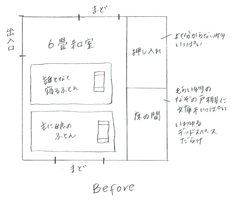 和室DIY改造計画 before