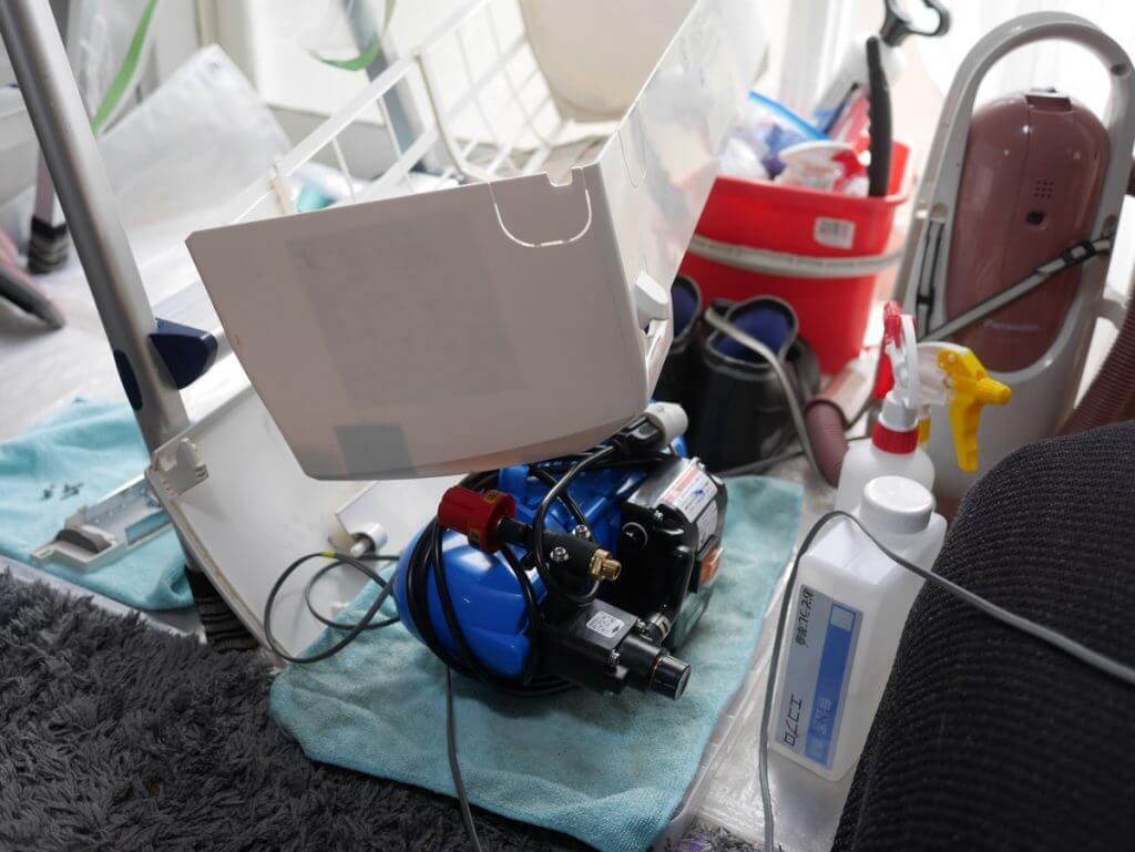 エアコンクリーニングの分解掃除