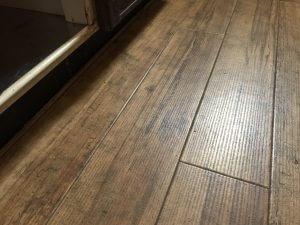 ダスキンさんが掃除してくれた床