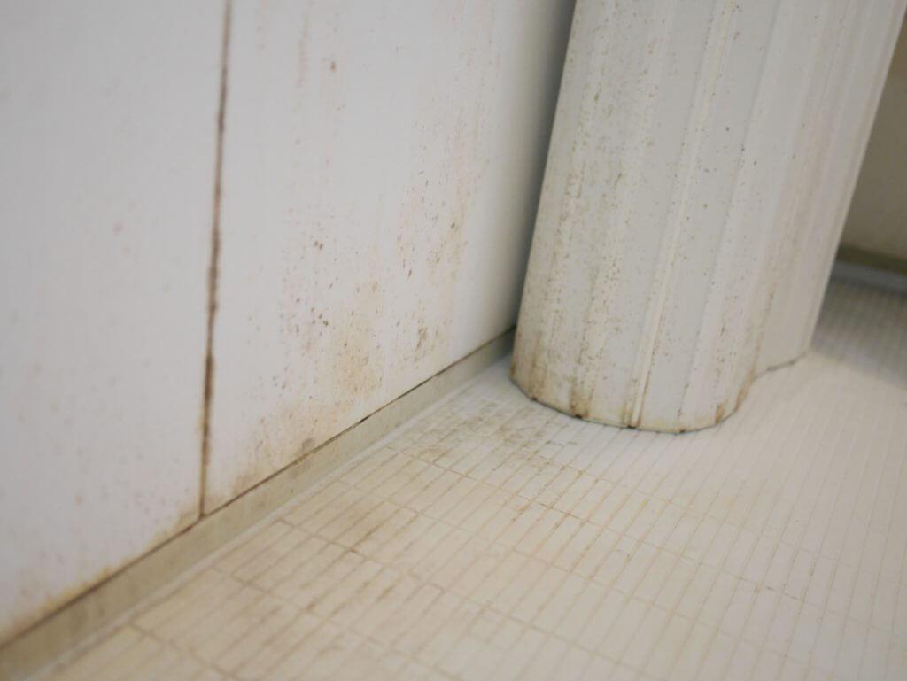 水垢だらけの浴室