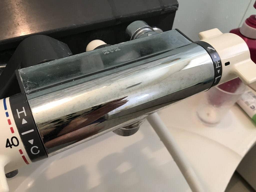 水垢が取れたお風呂のシャワー水栓