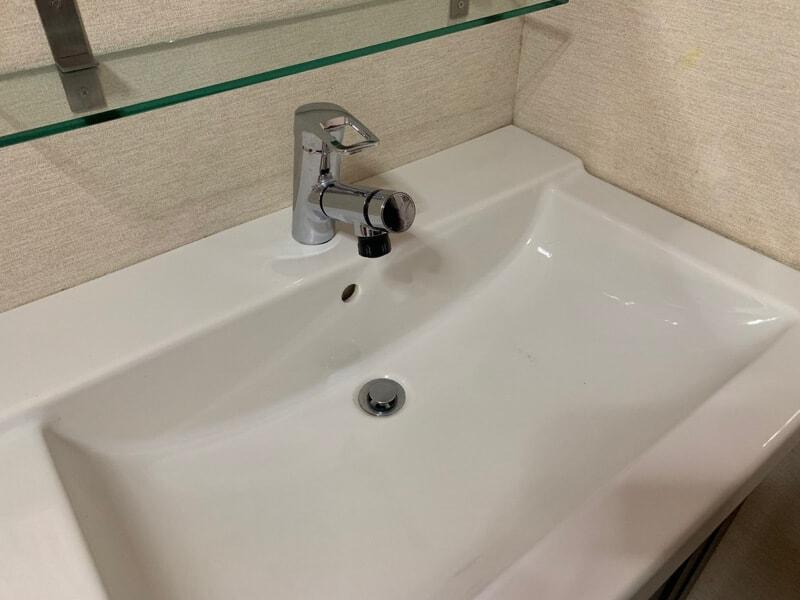 洗面所 イオンのカジタクでハウスクリーニング後