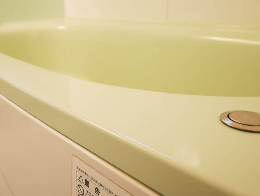 浴室コーティング後のお風呂:ツヤがすごい