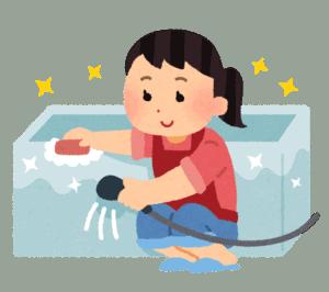 ご機嫌でお風呂掃除する女性