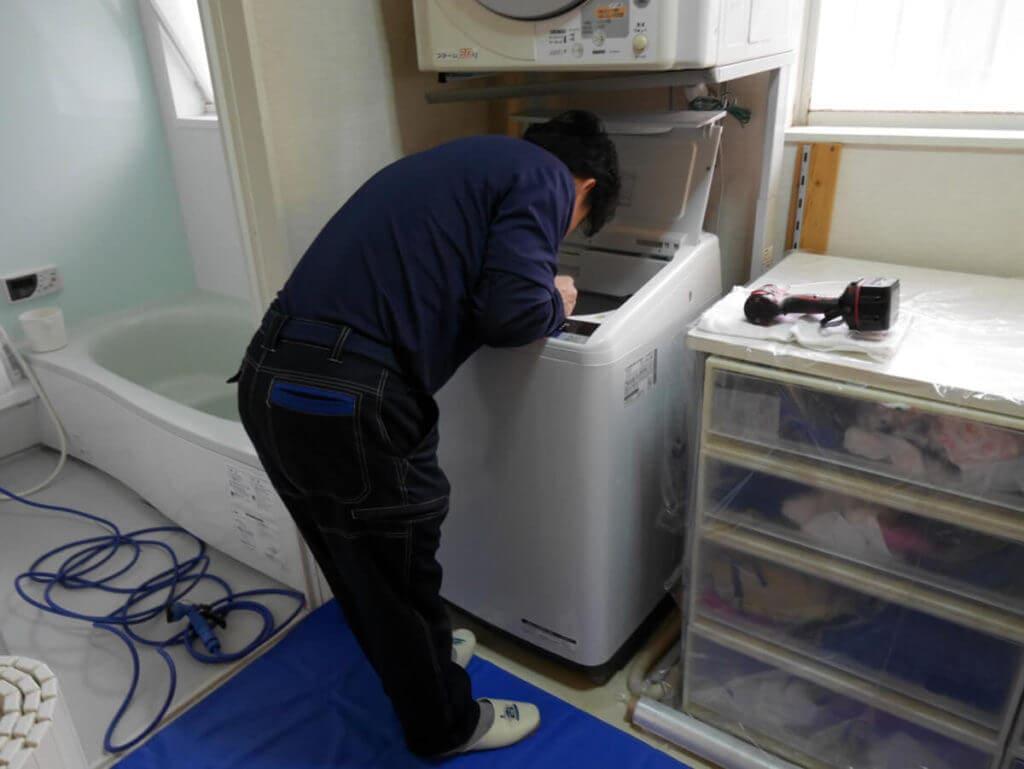 おそうじ本舗の洗濯槽クリーニング 部品を分解