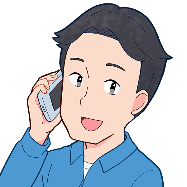 電話する男の人