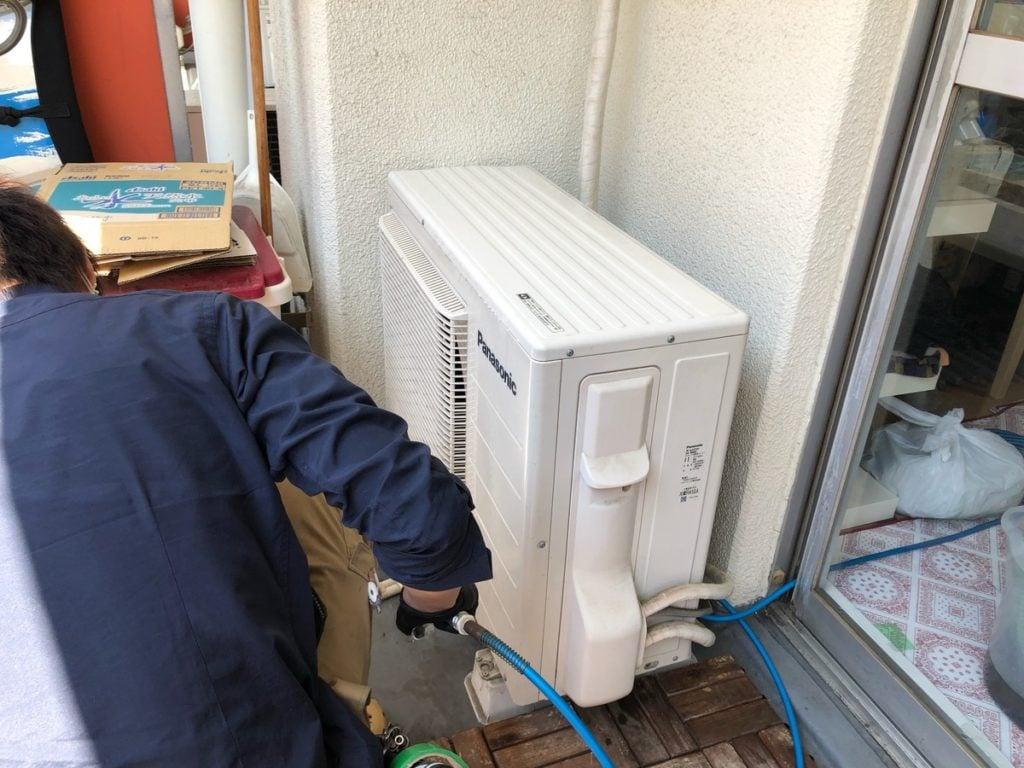 エアコン室外機洗浄