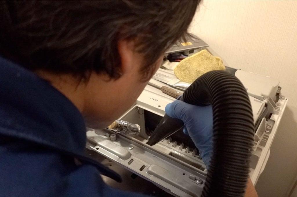 洗濯機パナソニック フィルター掃除