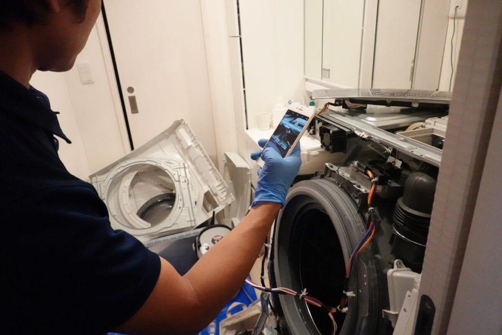 洗濯機パナソニック 写真を取りながら分解
