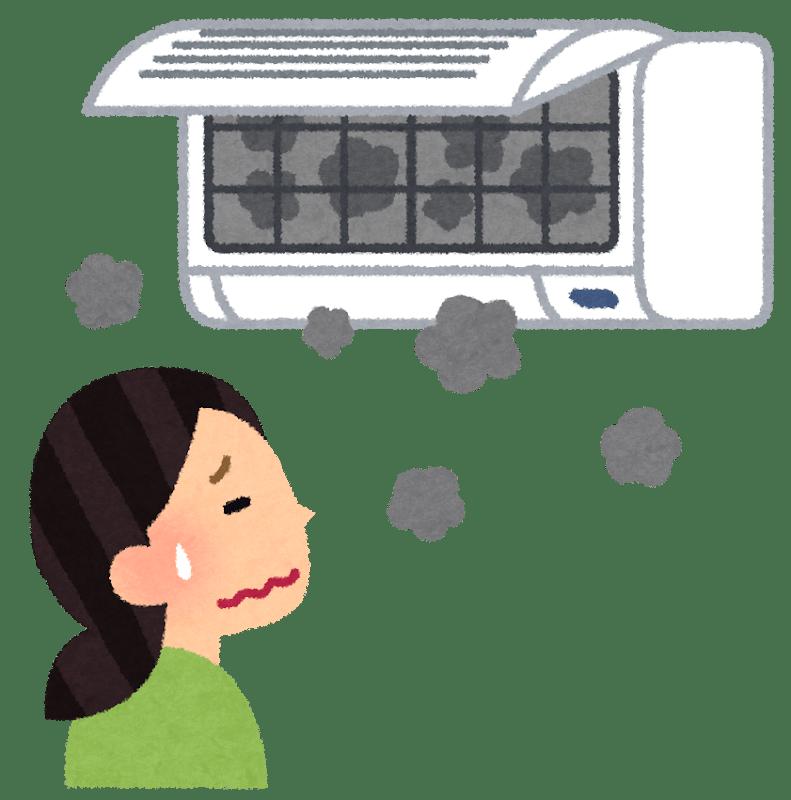 カビだらけのエアコン クリーニング
