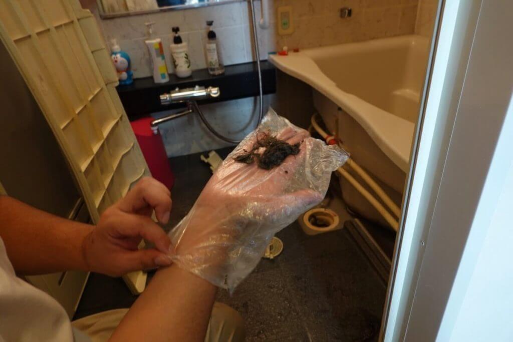 ベアーズ リセットプロ体験 お風呂のゴミ