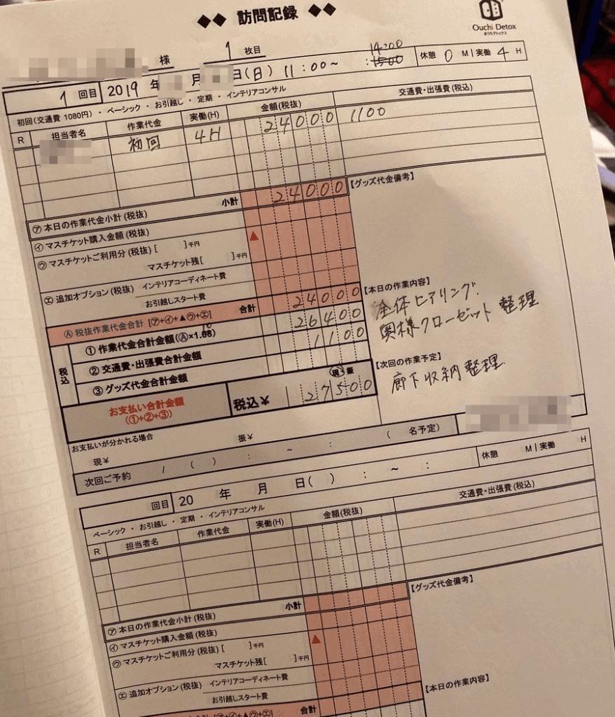 おうちデトックス 訪問記録