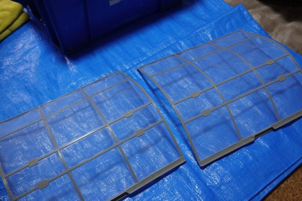 ハウスクリーニングのオンエアコンクリーニング フィルター掃除