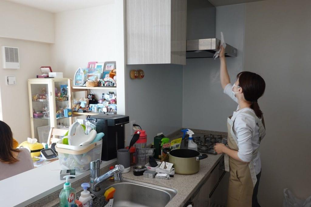 ラクシィ お試しプラン  キッチン掃除