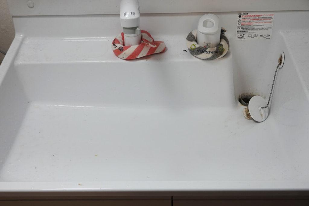キッズライン 家事代行 洗面台掃除 ビフォー
