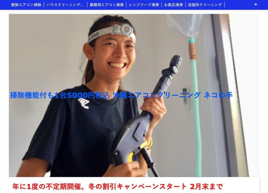 沖縄エアコンクリーニングネコの手