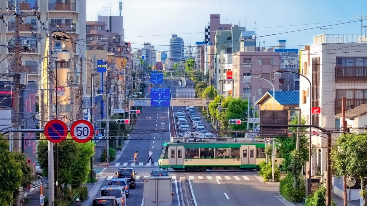 東京都 世田谷区 若林踏切