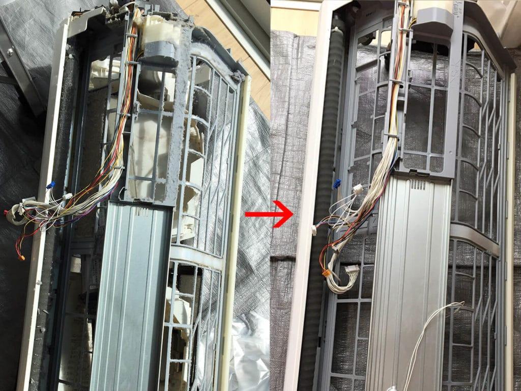 シャープのエアコンクリーニング エアコン内部