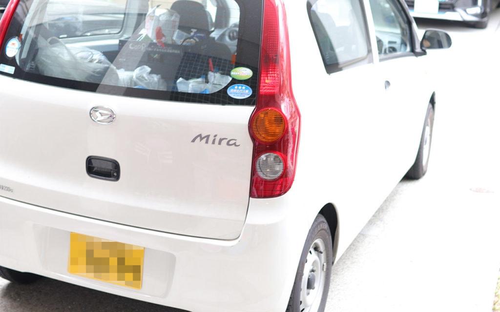 エアコンクリーニング業者の作業車
