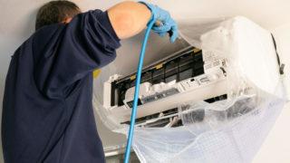 エアコンを高圧洗浄機で洗う