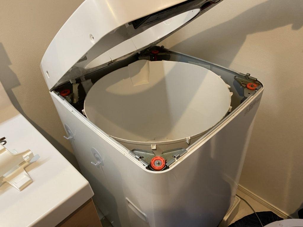 洗濯槽クリーニングで綺麗になったSHARPの穴なし縦型洗濯機