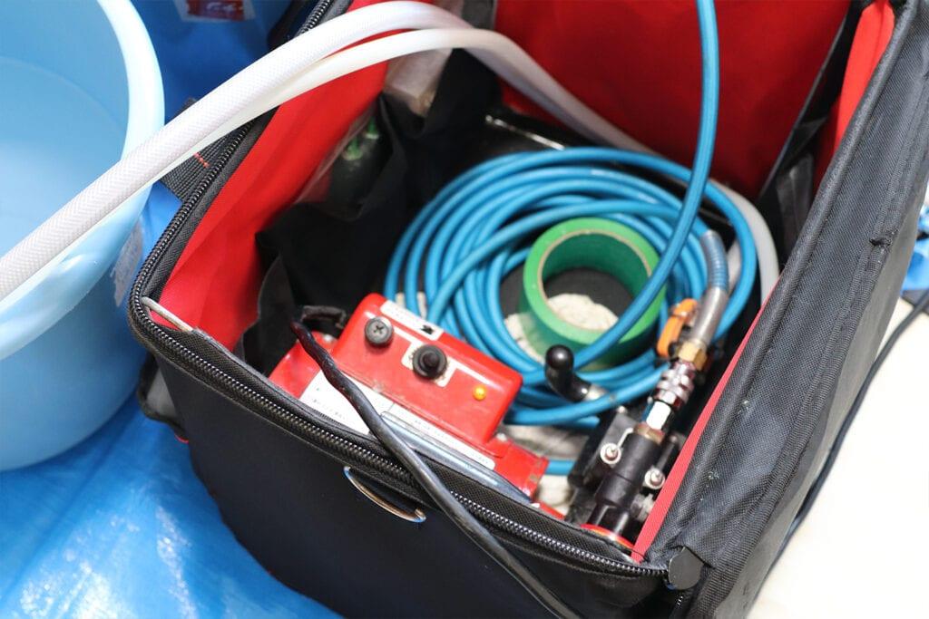 エアコンクリーニングに使用した高圧洗浄機