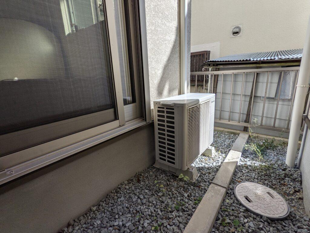 カジタクのエアコンクリーニングでクリーニングをしてもらった室外機
