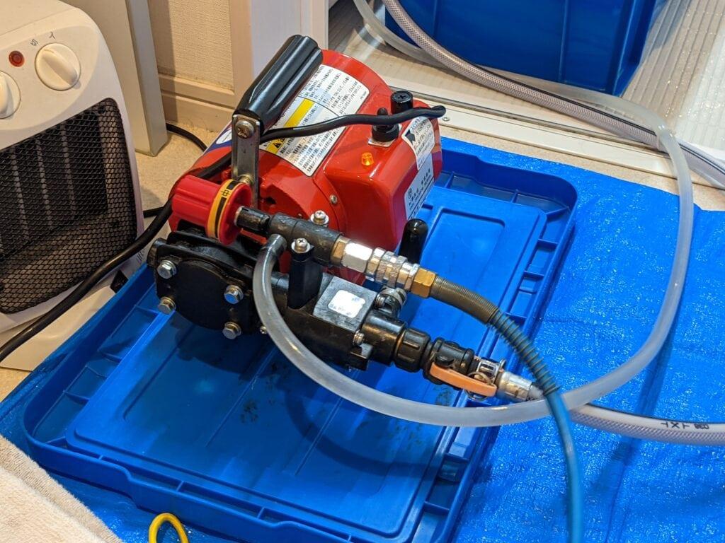 カジタクのエアコンクリーニングで使用していた高圧洗浄機